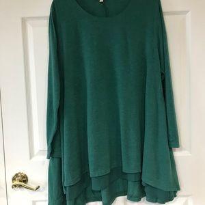 Hunter green tunic